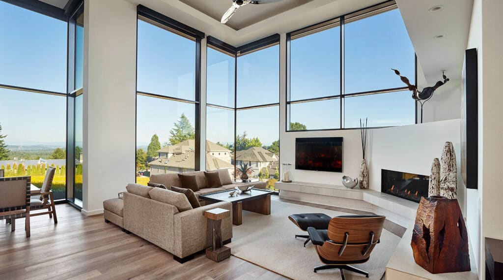 Thermal Aluminum Curtail wall Window Installation in Winnipeg