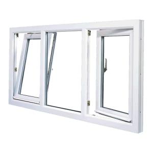 PVC Fiberglass Euro Tilt Turn Window Installation in Winnipeg