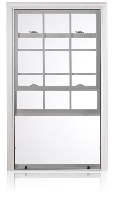 PVC Fiberglass Vertical Sliding Window Winnipeg Installation
